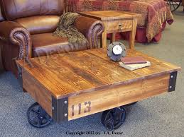 Vintage Coffee Table With Wheels Factory Cart Coffee Table Wooden Coffee Table Rustic