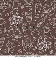 coffee shop background design coffee shop design seamless background stylized stock vector