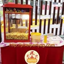 popcorn rental machine cheap popcorn and candy floss rental pixel party sg