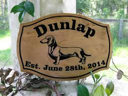 Personalized Wedding Plaque Personalized Dachshund Dog Wedding Plaque Custom Wood Carved