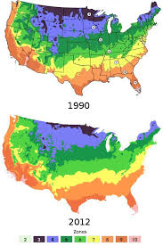 Usa Garden Zones - average climate map us