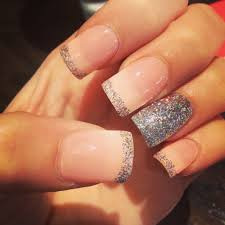 acrylic glitter french light pink nails nails pinterest