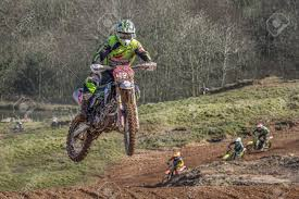 motocross action motocross action from rider james chambers tackles a jump at