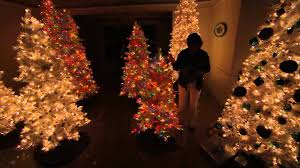 bethlehem lights 9 flocked bedford spruce tree with