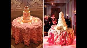 easy wedding cake table decorations youtube