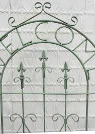 welcome sign trellis flower garden screen