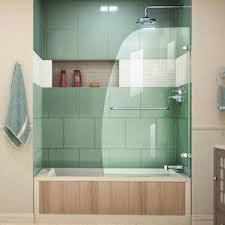 glass door on bathtub shower u0026 bathtub doors you u0027ll love wayfair