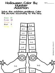 simple addition color by numbers worksheets addition and