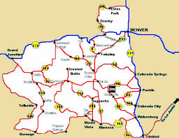 map of central colorado historic mountain towns