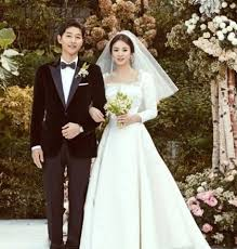 stunning wedding dresses the on song hye kyo s stunning wedding gown