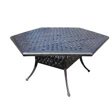 hexagon patio table and chairs hexagon patio table puntopharma