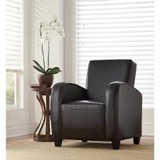 black bonded leather club arm chair cnf456 lbk the home depot