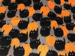 belinda u0027s big kitty black cat halloween fabric cat fabric