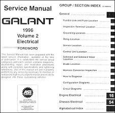 2002 mitsubishi galant repair manual 100 images 1999 2003