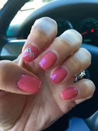 nail design shellac gellish nail art bows pretty pink
