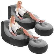 2 pack intex ultra lounge inflatable chair w ottoman sofa dorm
