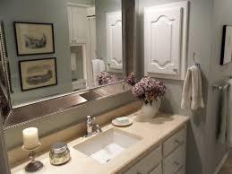 Virtual Bathroom Makeover - simple big bathroom glass mirror ideas with wooden vanity cabinet