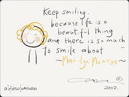 marilyn monroe quote on smiling in this beautiful world