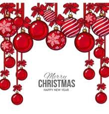 ribbon and bows christmas balls with ribbon and bows greeting vector image