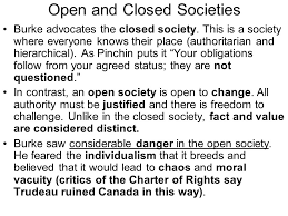 Challenge Open Or Closed Political Philosophy Ppt