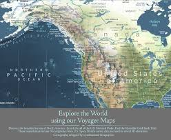 World Map North America by Voyager 1 World Map Canvas Wrap Map Geojango Maps