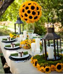 party table sunflower party theme savvy entertaining