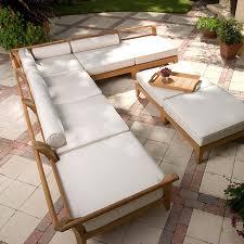 Patio Furniture Kelowna Modular Teak Furniture Daybed With Sunbrella Teak Furniture