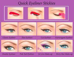 quick eyeliner stickies stencils cosmetic eye makeup tool