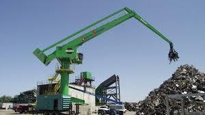 Pedestal Crane E Crane Installs Pedestal Mounted Unit For American Recycling