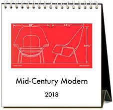 2018 easel desk calendar mid century modern 2018 easel desk calendar by found image press
