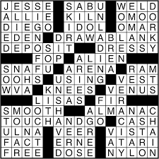crossword puzzle answers october 13 2016