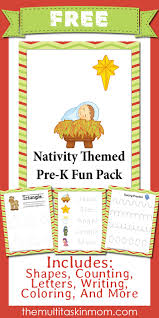 nativity themed prek pack free the multi taskin