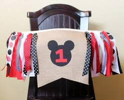Bag High Chair Mickey Mouse Birthday Garland High Chair Garland High Chair
