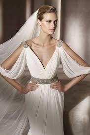 wedding dresses goddess style 15 gorgeous the shoulder wedding dresses society19 uk