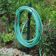 yard butler free standing hose hanger with faucet qc supply