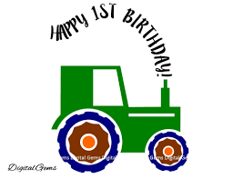 on sale 50 off happy 1st birthday boy tractor svg cutting file