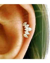 cartilage earing slash prices on cz crown cartilage earring tiara tragus earring
