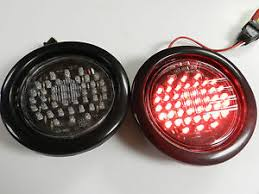 2 led trailer lights 2 clear red 4 round led 44 led stop turn tail light kaper ii