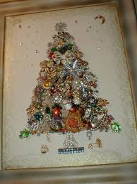 christmas hers make costume jewelry artwork collage for your wall jewelry
