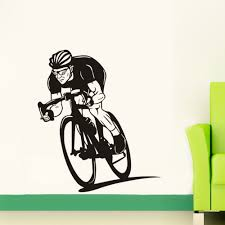 online get cheap mountain bike decoration aliexpress gym sports wall stickers riding mountain bike home decor removable viny for boys kids room