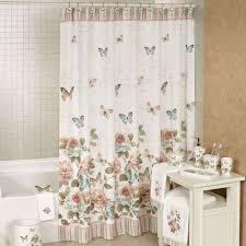 butterfly garden embellished shower curtain