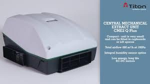 Whole House Ventilation Unit Titon Ventilation Systems Mev Cme Q Plus Youtube