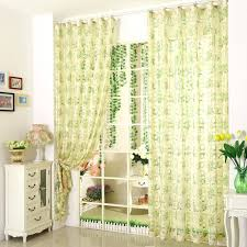 Retro Floral Curtains Green Floral Curtains Green Color Jacquard And Printing Floral