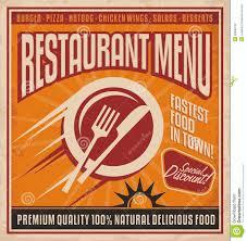 affiche cuisine retro rétro calibre d affiche pour le restaurant d aliments de