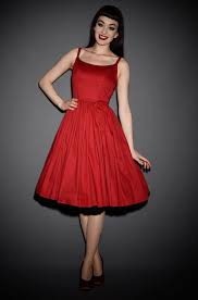 jenny dress in red by pinup couture at uk stockists deadly is the