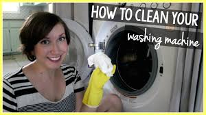 how to clean a front loading washing machine youtube