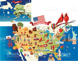 Iowa Map Usa by Cartoon Map Of Usa Stock Vector Art 475916150 Istock