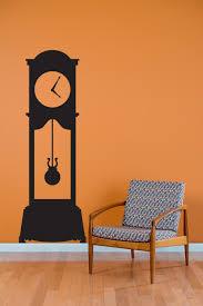 Vinyl Wall Stickers Custom Grandfather Clock Wall Decal Custom Vinyl Art Stickers