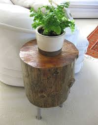 How To Make A Tree Stump End Table by Diy Tree Stump Table K Sarah Designs