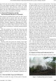 environmental burden of charcoal production and use in dar es